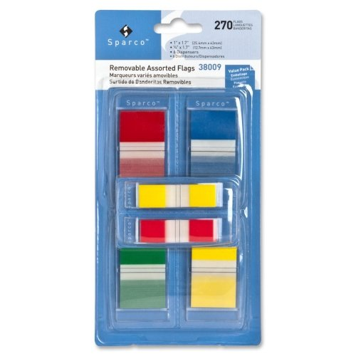 Sparco Removable Flag Combo Pack - Self-adhesive - 1