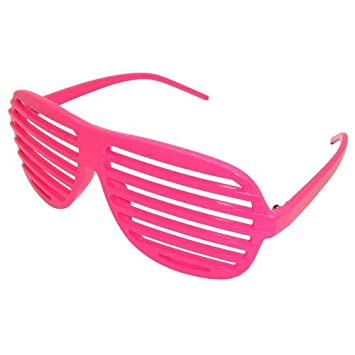 0391f7b5a7 New (Unisex Mens Ladies) Neon Pink Kanye West Shutter Shades Sunglasses   Amazon.co.uk  Toys   Games