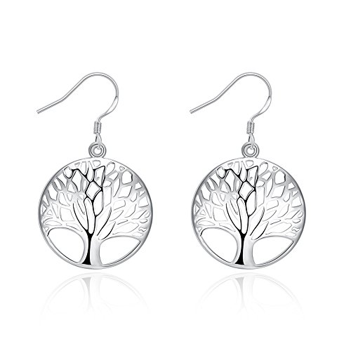Tree Shape Earring (925 Sterling Silver Dangle Earrings Tree Shape Charm Fashion Earrings Jewelry Sets)
