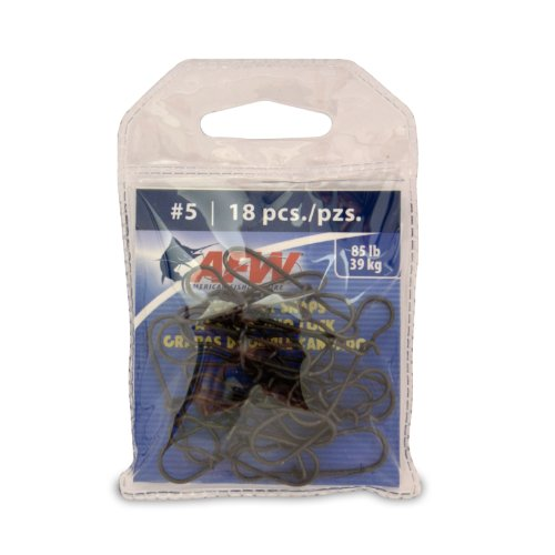 (American Fishing Wire Duo Lock Snaps (Black/Size 5, 85 Pound Test, 18-Pieces))