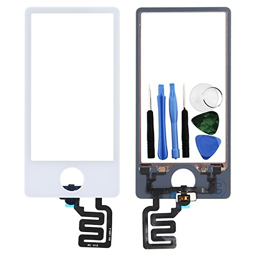 BisLinks® White LCD Touch Screen Digitizer Assembly Replacement For iPod Nano 7 7th Gen - Ipod Nano Lcd Screen Replacement