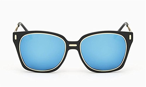 GAMT Classic Retro Polarized Colorful Square Sunglasses for Men and Women Metal Frame PC Lens UV400 Protection Black Frame Blue Lens (Sunglasses For Sale Oakley)