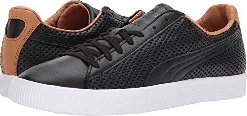 Puma Clyde - PUMA Select Men's Clyde Colorblock Leather Sneakers, Black, 8 D(M) US