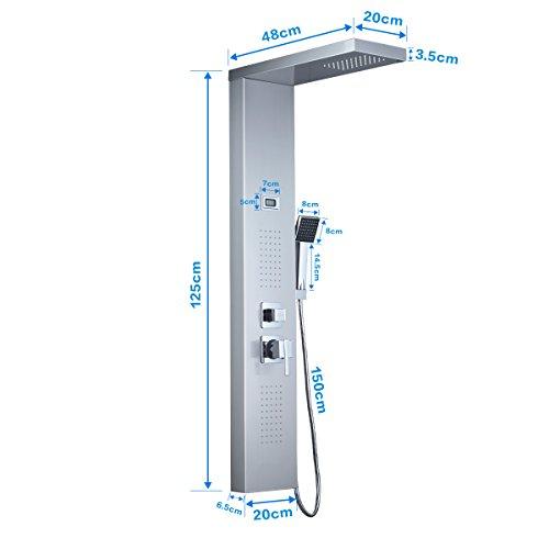 Auralum® Acero inoxidable masajes panel de ducha columna de ducha ...