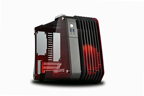 Enermax Black Atx Computer Case - Enermax Steelwing ecb2010r Micro-Tower Black, Red - Box of Computer (Micro-Tower, PC, Aluminium, Tempered Glass, Micro-ATX, Mini-ITX, Fans of The Box, Red)