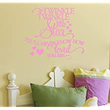 Twinkle Twinkle Little Star-adorable nursery/child's room Wall Decal 26x23 (Soft Pink)