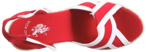 Rojo S U de 4175S1 vestir US7 Canvas mujer lino 490 Polo para de Sandalias 57 Alena wxdpZx1