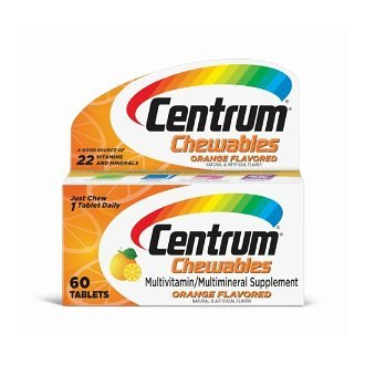 Centrum Chewable Multivitamin, Orange Flavored, 60 Tablets