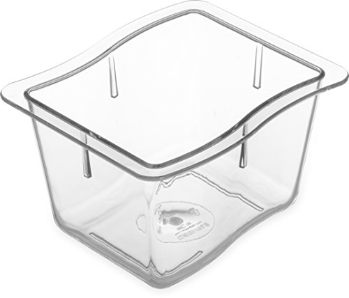 Carlisle 6986407 Modular Displayware Pans, Set of 6 (1/3-Size, 4-Inch, Polycarbonate, Clear, NSF) by Carlisle