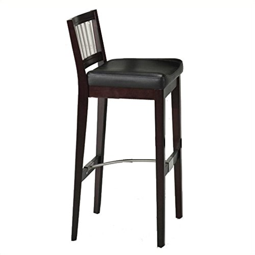 Home Style 5987-88 Bar Stool with Metal Stretcher, Cherry Finish 88 Cherry Bars