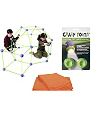 Crazy Forts Combo Fort Bundle Set - Complete Play - Crazy Fort Purple 69 Pieces & Fort Lights & Cover Sheet!