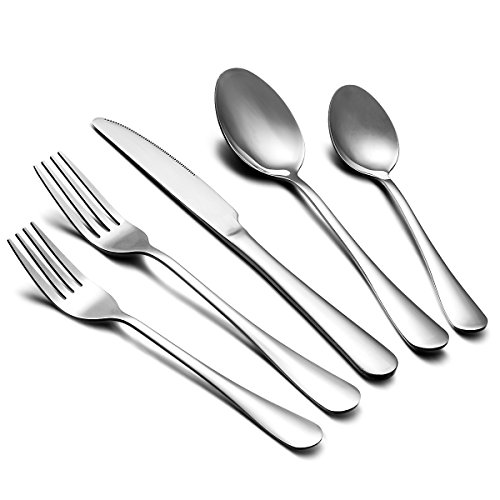 60-Piece Silverware Flatware Cutlery Set, Estmoon Stainless