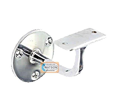 Chrome Plated Handrail Bracket Banister Support - 63mm - ...