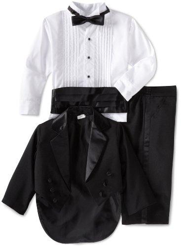 (Joey Couture Little Boys' Little Tuxedo Tail Suit, Black,)