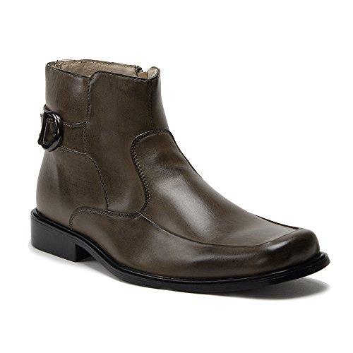 Jaime Aldo New Mens 38306 Leather Lined Tall Zipped Square Toe Dress Boots