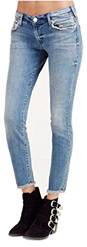 True Religion Women's Casey Super Skinny Crop Capri Jeans in Gypset Blue (26, Gypset Blue)