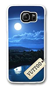 Samsung S6 Case,VUTTOO Stylish Night Sky Background Hard Case For Samsung Galaxy S6 - PC White
