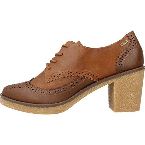 MTNG Collection 51816, Zapatos de Tacón con Punta Cerrada para Mujer Moka