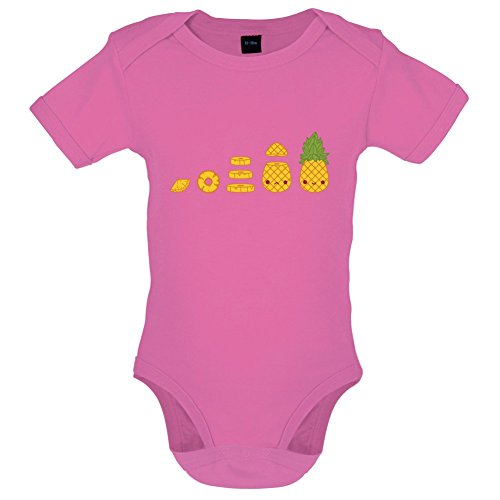 Evolution Of Pineapple - Babygrow - Bubble Gum Pink - 3-6M