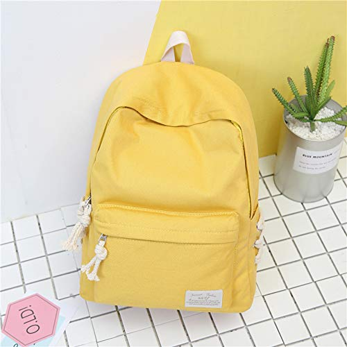 Scuola tinta 31 giallo Schoolbag 14cm 40 College Campus Tela Fsweeth Zaino Wind Simple unita H8q4E