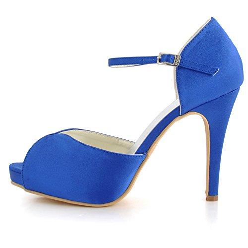 fashion Blue Bleu 43 Azul Style2 EU de Kevin EU Chaussure femme mariée Fashion qFfIwRU