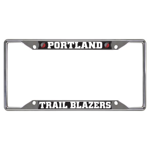 FANMATS NBA Portland Trail Blazers Chrome License Plate Frame