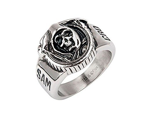Sons of Anarchy Grim Reaper Skull Stainless Steel Ring (11) ()