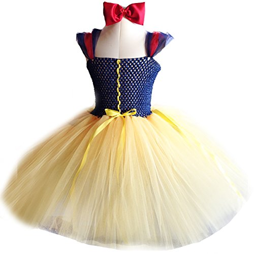 [Girls Snow White TuTu Dress Hand-made Cute Infant Dress(0-4years)] (Kitty Newborn Baby Costumes)