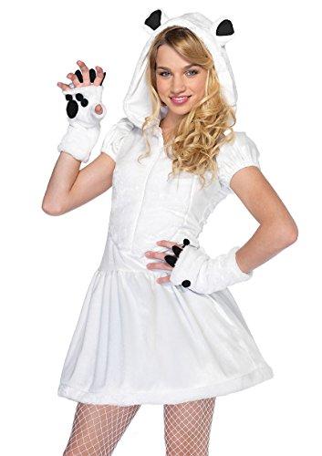 [Chilly Polar Bear Teen Costume] (Women's Polar Bear Costume)