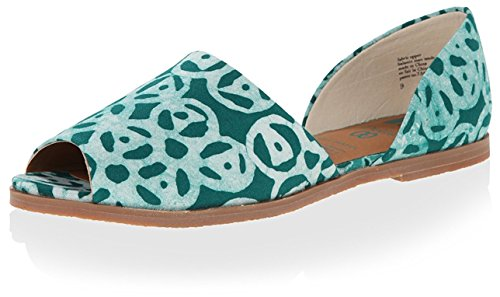 BC Footwear Womens Happy As a Clam Emerald Della Print QtyDPIiE