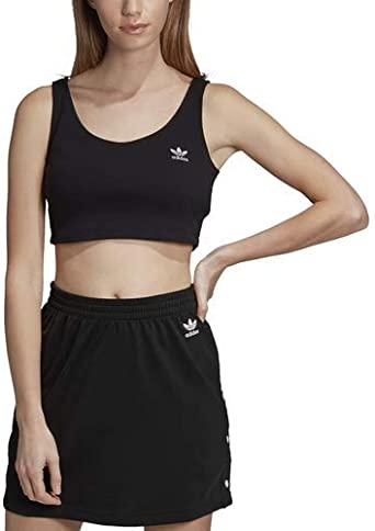 Conclusión emocional fragmento  adidas Originals Women's Sc Cropped Tank Top, black, X-Large at Amazon  Women's Clothing store