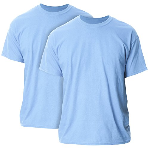Gildan Men's G2000 Ultra Cotton Adult T-Shirt, 2-Pack, Carolina Blue, 2X-Large