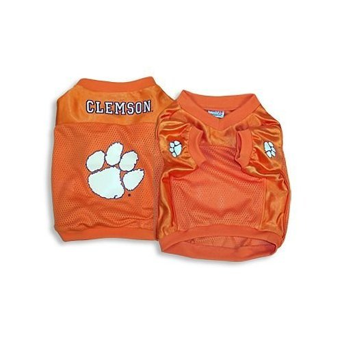 Clemson Tigers Dog Jersey - Sporty K9 Collegiate Clemson Tigers Football Dog Jersey, X-Small