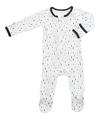 BESTAROO Baby Leaves Zippered Footie
