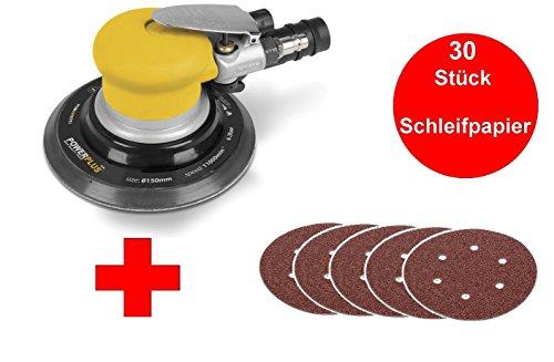 Profi Druckluft Excenterschleifer Exzenterschleifer inkl. 30 Schleifscheiben 150 mm