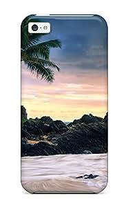 Thomas Jo Jones's Shop Christmas Gifts DJMW464JQQMXHZS8 New Style Hard Case Cover For Iphone 5c- Hawaii Secret Beache WANGJING JINDA