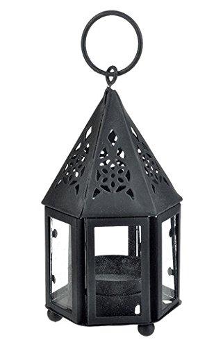 WGI Mini Hampi Hurricane Candle Lantern, Black Novelty