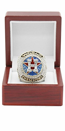 Champions Glory 2017 HOUSTON ASTROS WORLD SERIES REPLICA CHAMPIONSHIP RING WITH WOODEN BOX (SIZE 8-14) (Altuve, 12) (Flats Champion)