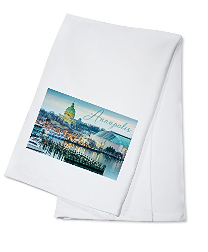 Annapolis, Maryland - Marina (100% Cotton Kitchen Towel)
