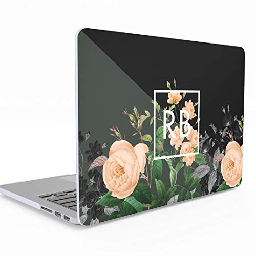 efcbda12b6154f Personalised Customize First and Last Name Initials Text Make Your Own  Vintage Wildflower MacBook Air 13 inch Case with Retina Display and Touch  ID