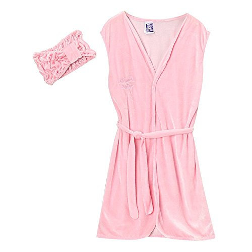 Girls Day Spa Value Birthday Party Favor Robe, Headband & Size S Slippers by Making Believe (Image #2)