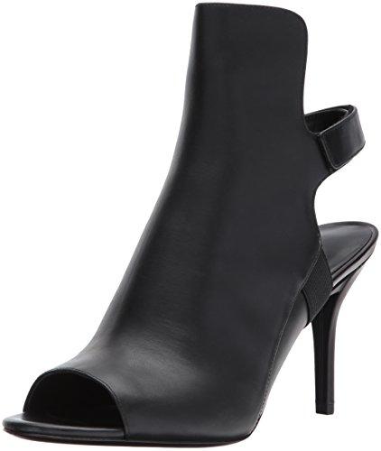 Via Spiga Women's Ida Heeled Sandal, Black Leather, 7.5 Medium US by Via Spiga