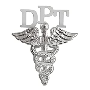 NursingPin Doctor of Physical Therapy DPT Graduation Pin in Silver