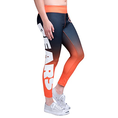 Forever Collectibles Chicago Bears Gradient 2.0 Wordmark Legging - Womens -