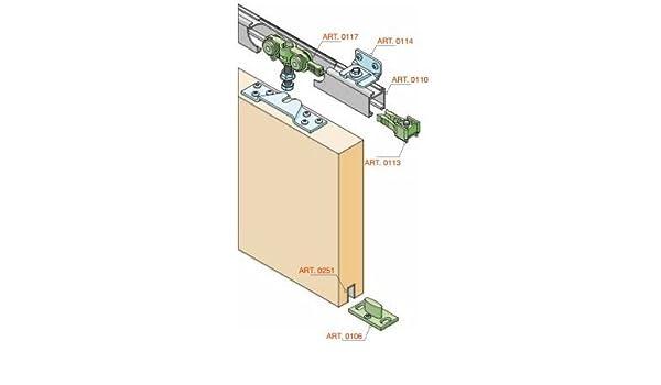 Para puerta corredera de herrajes kit + carril de 160 cm elox. Con 4 ángulo de 70 kg en calidad profesional de hasta 70 kg se para. Duración de la batería del