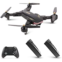 Goolsky VISUO XS809S 0.3MP Camera Wifi FPV Foldable Drone One Key Return Altitude Hold G-sensor Quadcopter w/Two Extra Battery