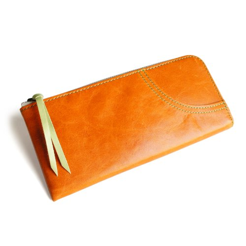 Women's Wallet (Orange, Horse Leather, Made in Japan) by pacca pacca