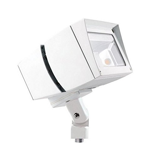 (Rab FFLED80W Future Flood Series Rectangular LED Flood Light Fixture 80 Watt 120 - 277 Volt 5000K Arm Mount White)