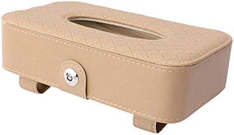 MxZas Auto Tissue Box Multifunktionale Pumping Papierkasten Leder Gewebe-Zufuhr for Autosonnenblende Sitzlehne 215x120x57mm Jzx-n (Color : Beige)