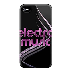 Fashion Protective Electro Music Case Cover For Iphone 4/4s